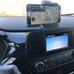Smartphone in houder dashboard Ford Fiesta 2018