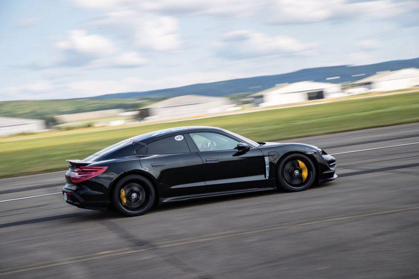 Porsche Taycan 0-200 km/h onder 10 seconden