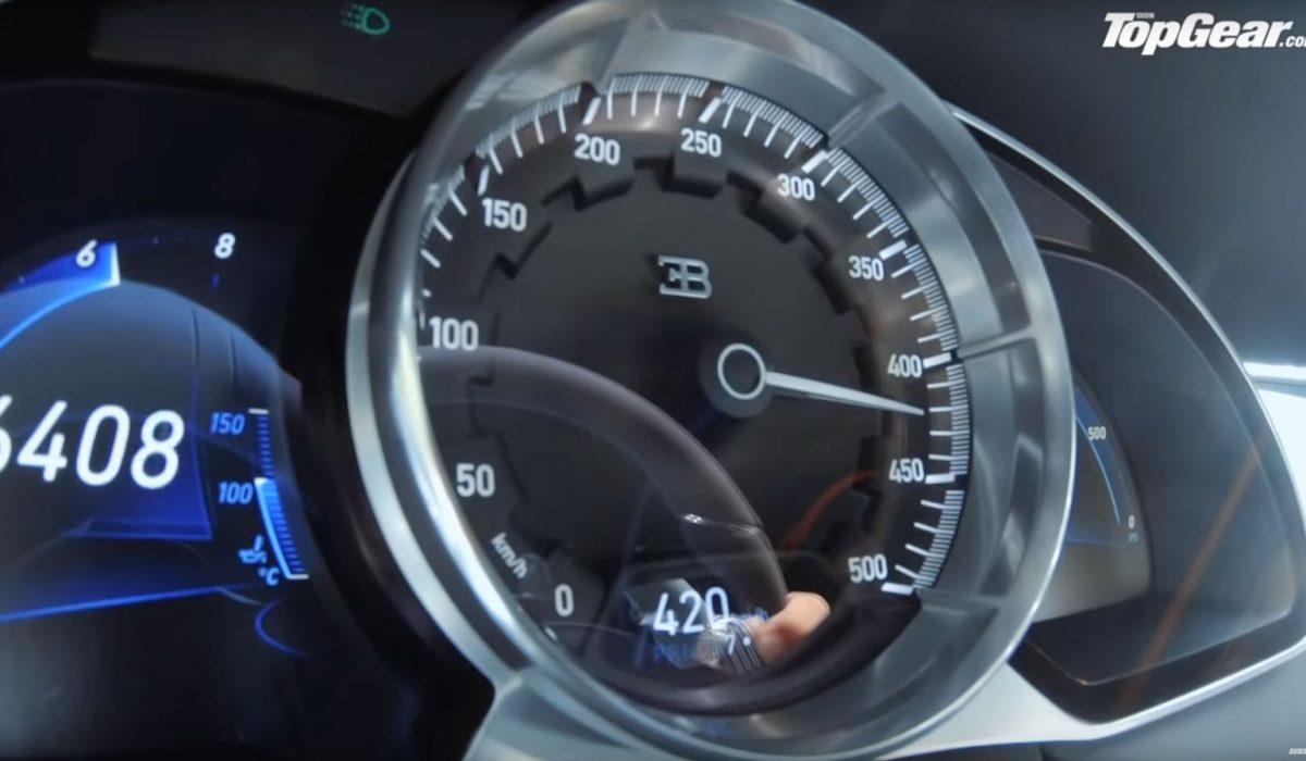 Bugatti Chiron topsnelheid