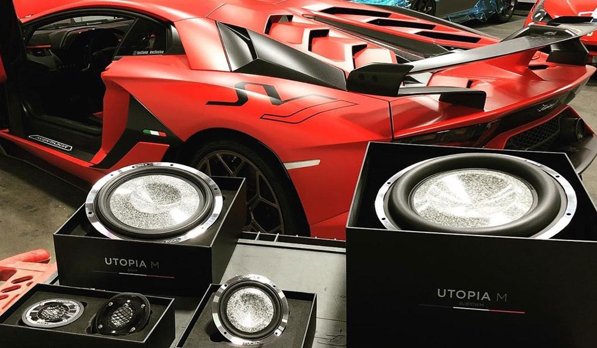 Lamborghini Aventador SVJ custom audio install by BriansCustomAudio
