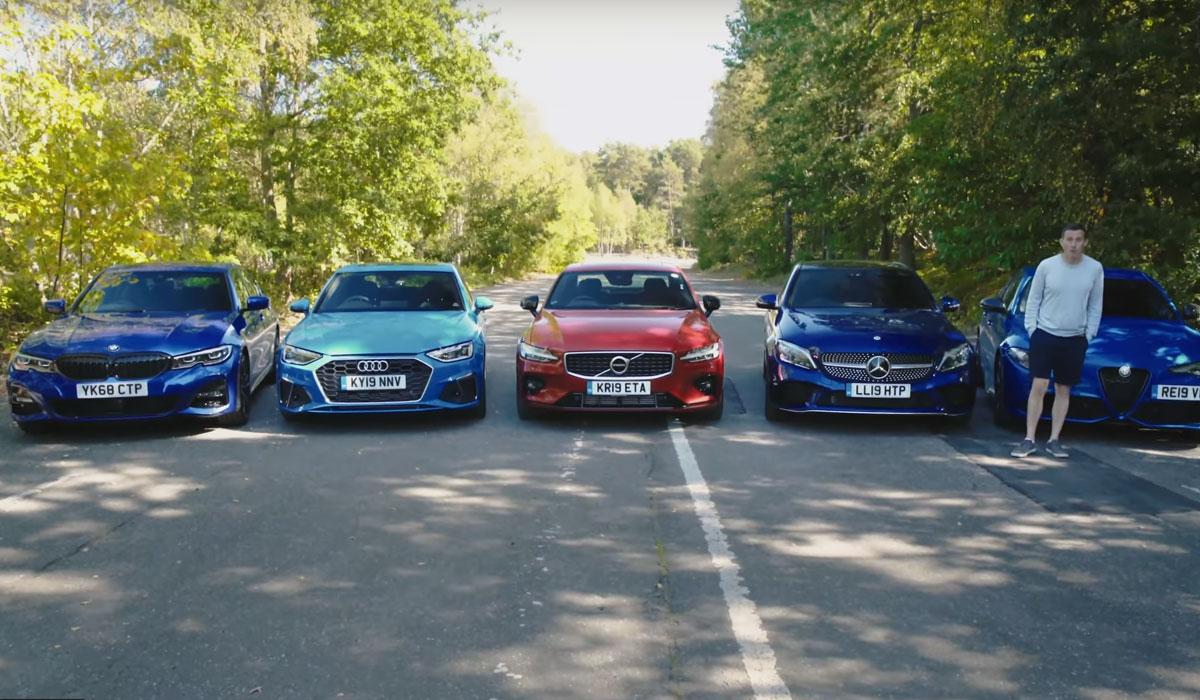 Test D-segment sedans: Alfa Romeo Giulia Veloce vs. Audi A4 40 TFSI vs. BMW 320d vs. Mercedes C300 vs. Volvo S60 T5