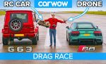 race: auto vs drone vs radiografische auto