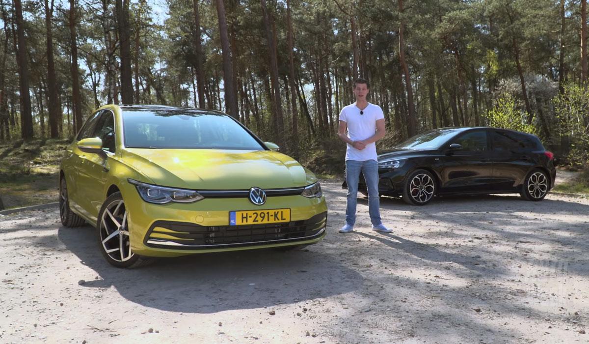 Test Volkswagen Golf 8 1.5 eTSI vs. Ford Focus 1.5 EcoBoost 182 pk