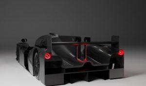 Render elektrische Le Mans-racewagen InMotion 2
