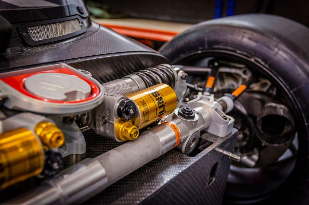 voorwielophanging elektrische Le Mans-racer InMotion