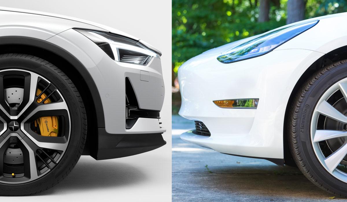 Test Polestar 2 vs. Tesla Model 3 LR