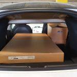 Bagageruimte banken plat Tesla Model 3