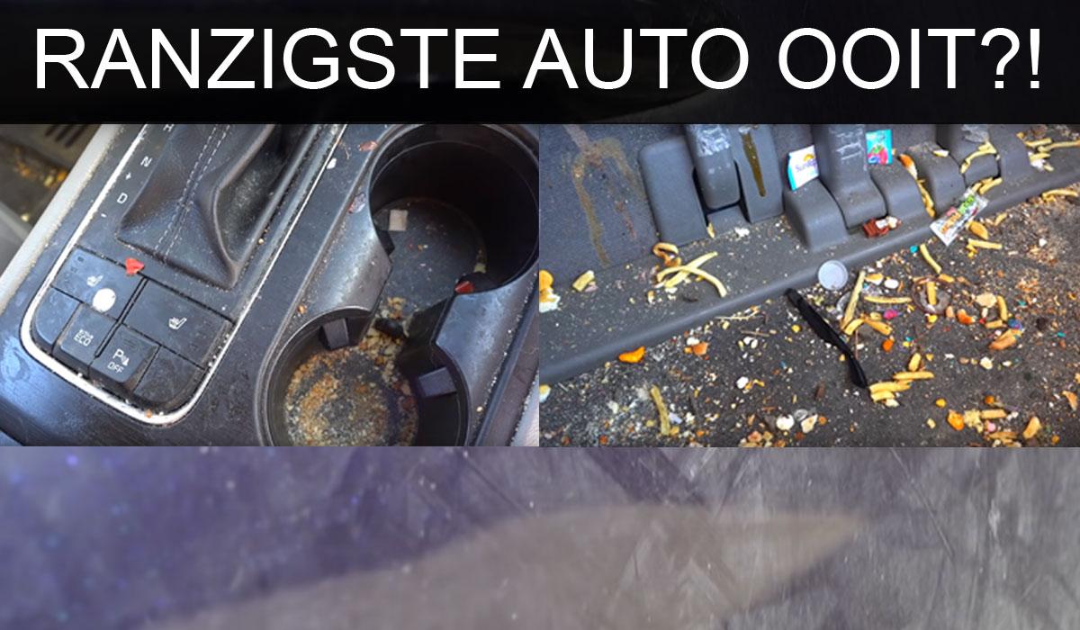 vieze auto schoonmaken