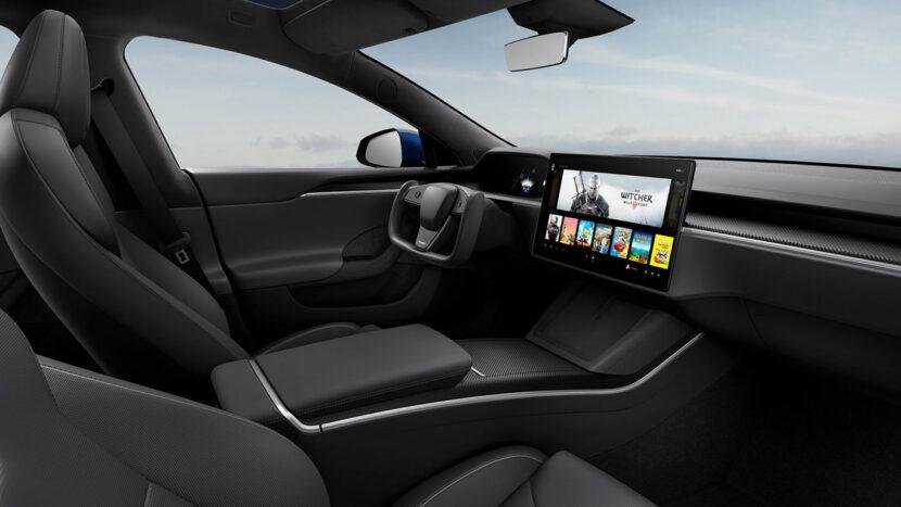 Interieur Tesla Model S Plaid+ 2021 zwart