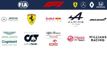F1 teamlogo's 2021