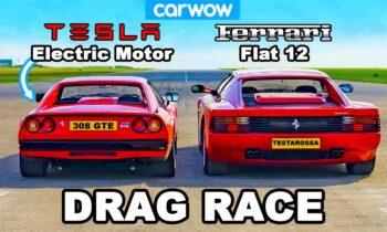 Elektrische Ferrari 308 vs Ferrari Testarossa