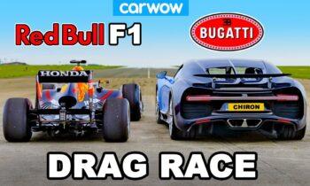 Bugatti Chiron vs F1 raceauto Red Bull