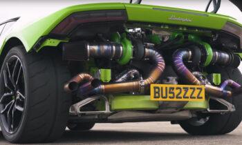 Pijpwerk getunede Lamborghini